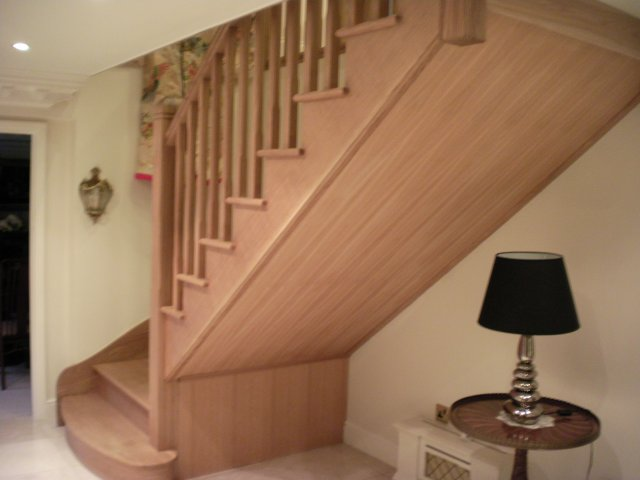 ... Oak Open String Staircase With Gothic Newels ...